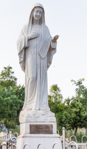 Virgin Mary statue in Medjugorje, Bosnia, July 2014, picture 7