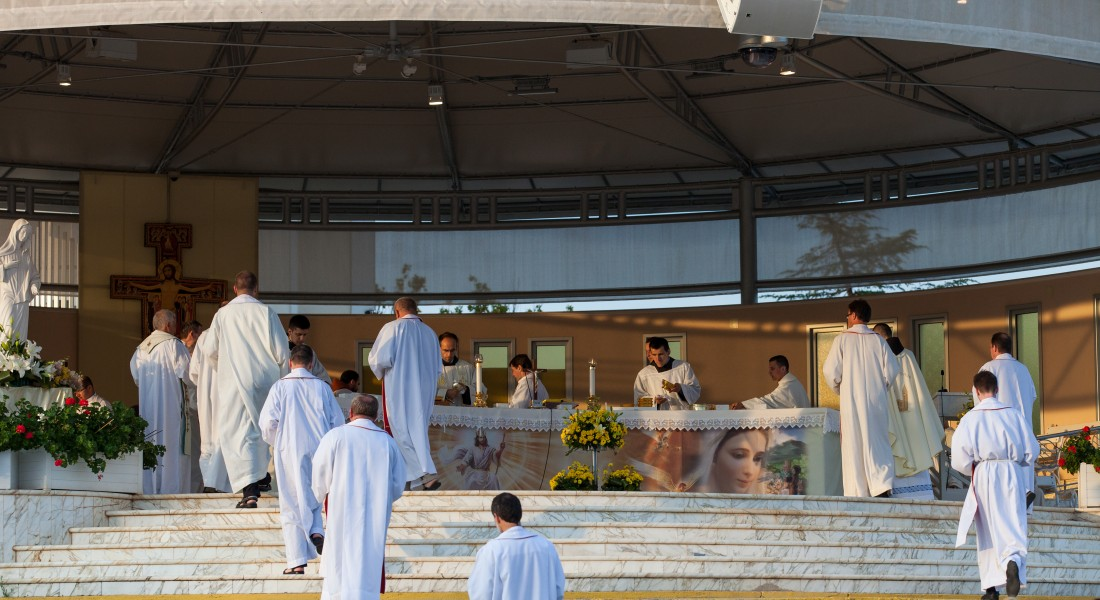 priests in Medjugorje, Bosnia, July 2014, picture 14