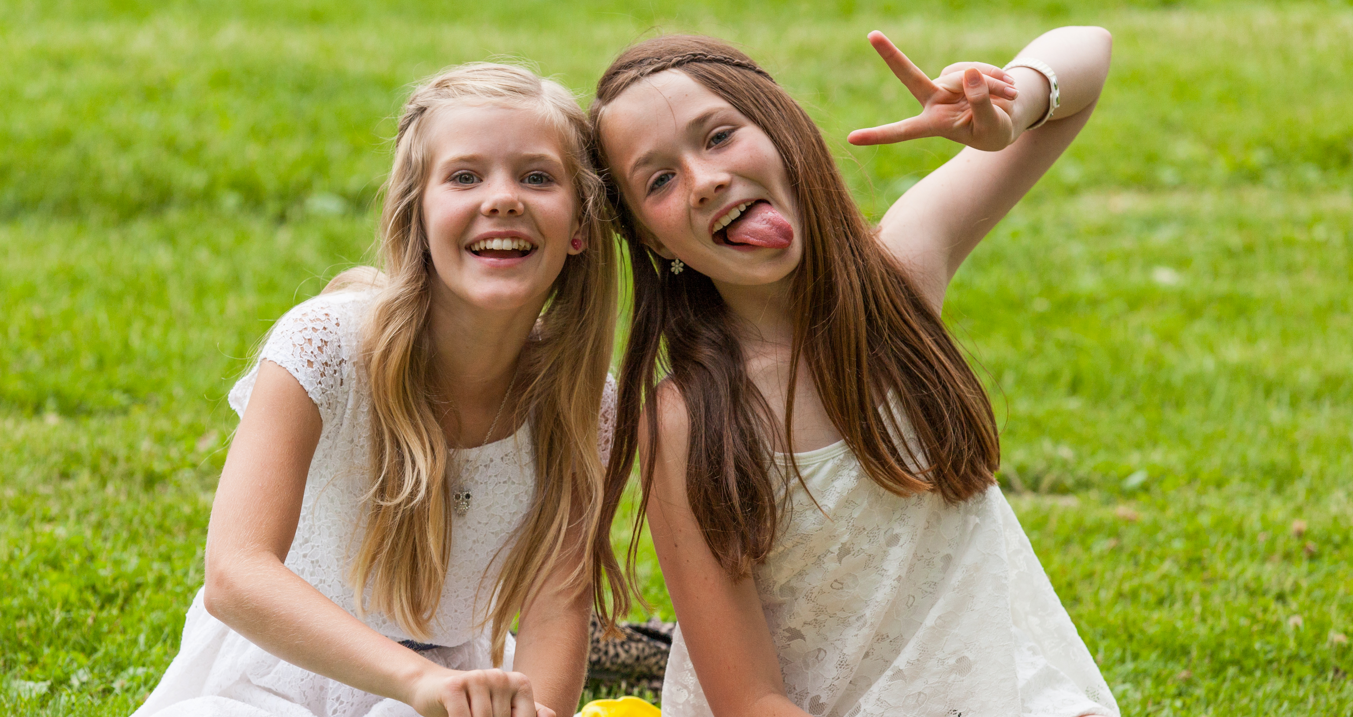 two cute young girls in Sigtuna, Sweden, June 2014, picture 19
