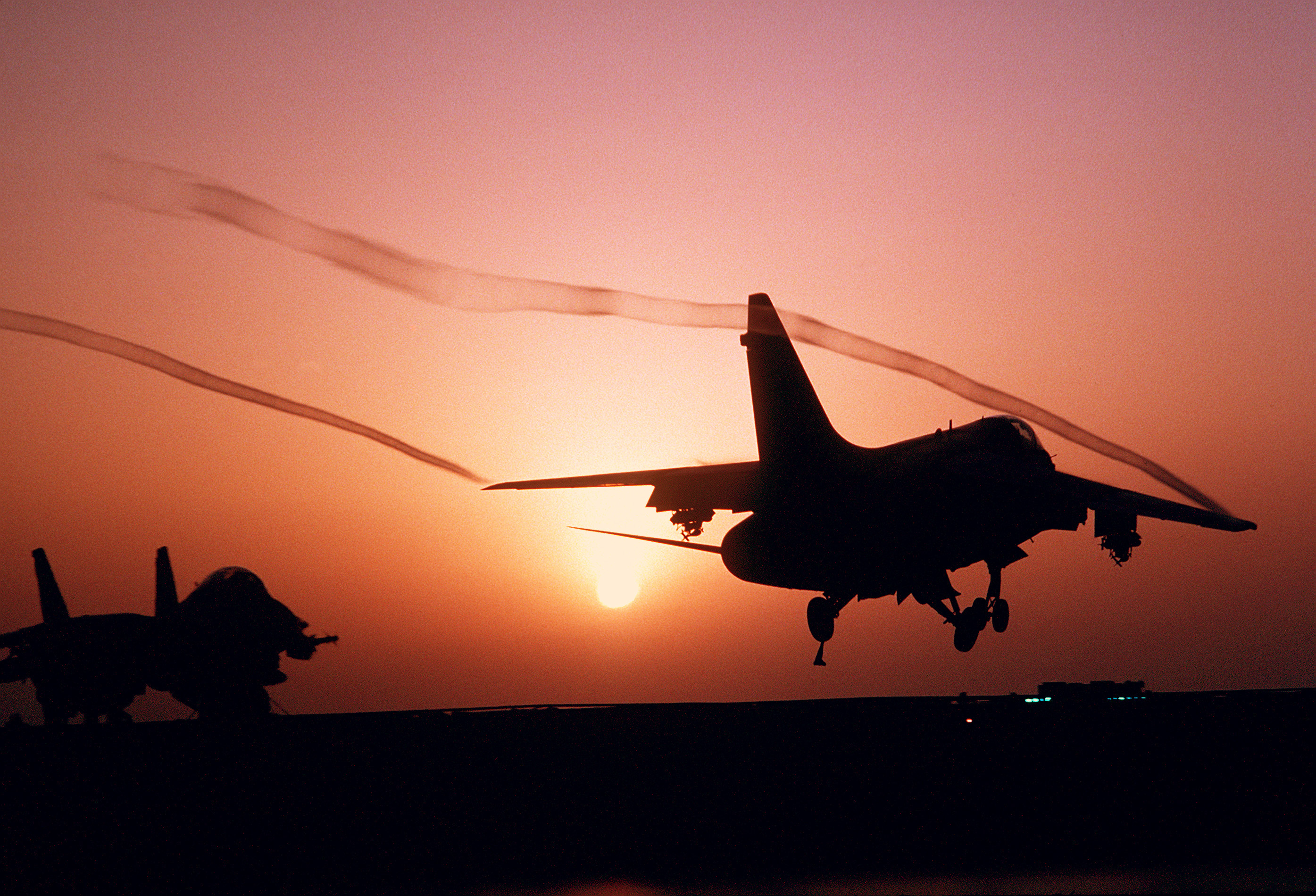 A-7E Corsair II sunset