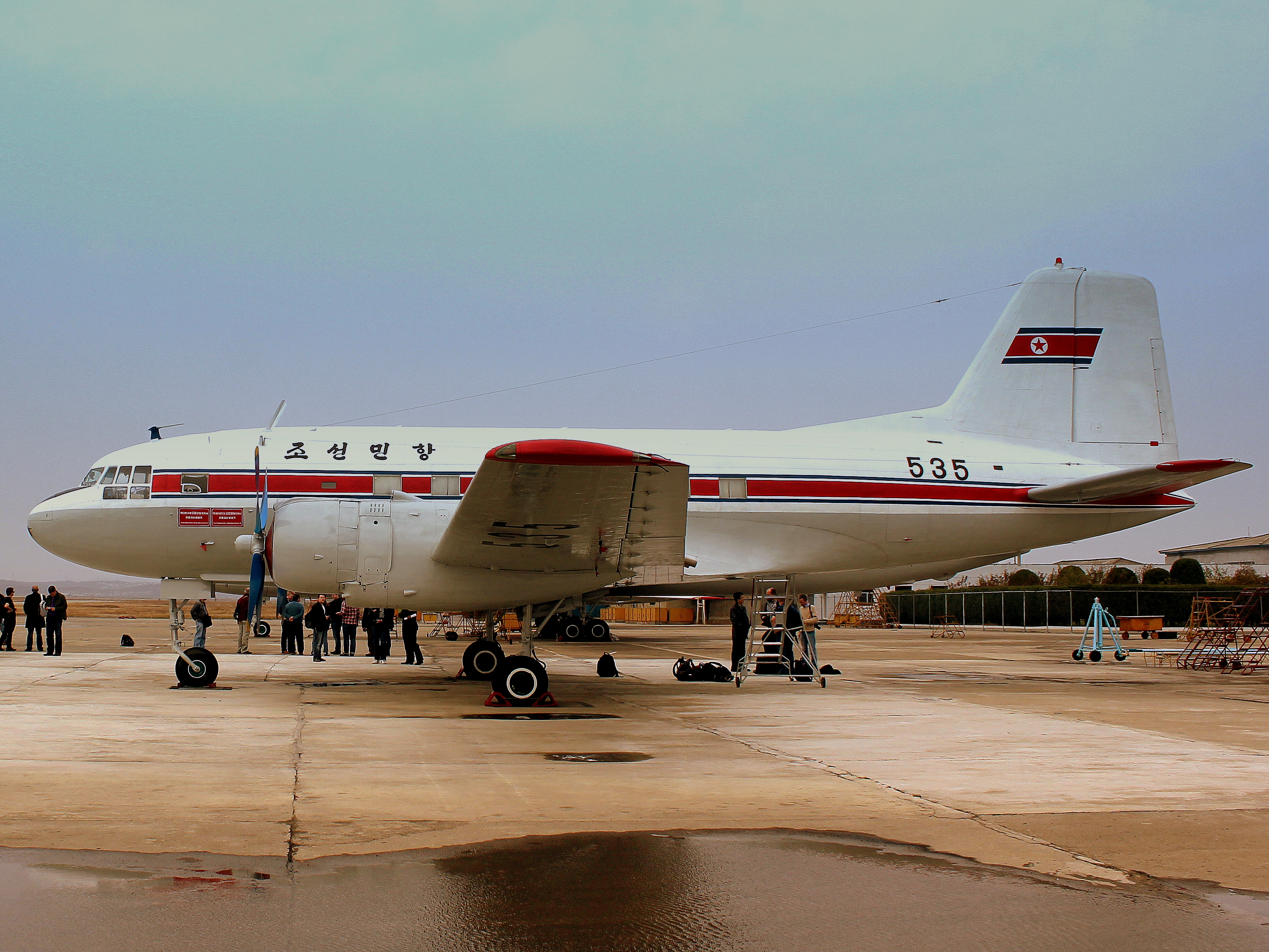 AIR KORYO IL14 P535 AT PYONGYANG SUNAN AIRPORT DPR KOREA OCT 2012 (8169560060)