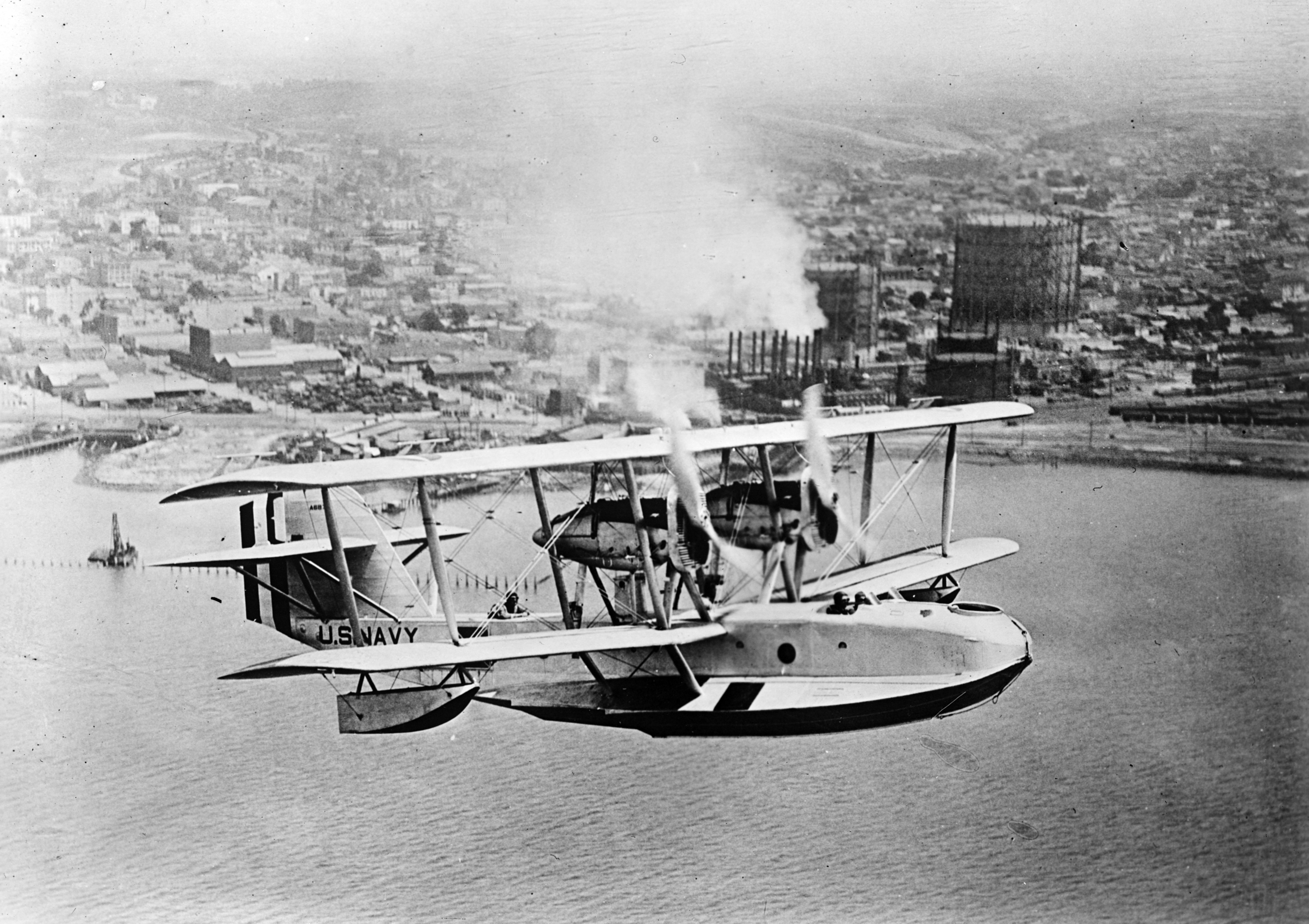 PN-9 flying boat in flight 1920s