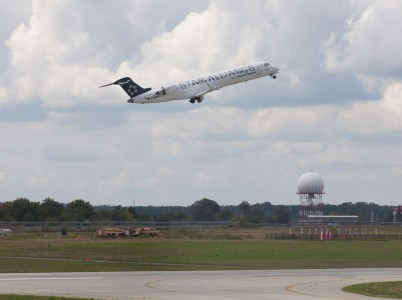 a Lufthansa Regional airplane departing from Lviv Danylo Halytskyi airport in Ukraine in August 2014, picture 3
