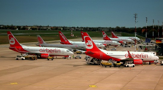 AIR BERLIN LINE UP AT TEGAL FLUGHAFEN BERLIN GERMANY APRIL 2012 (7091741767)