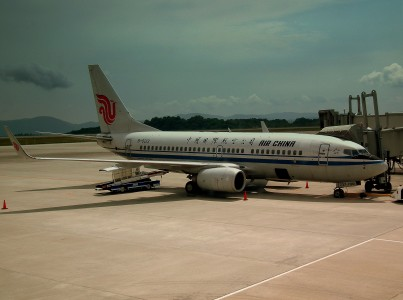 AIR CHINA BOEING 737-700 AT HIROSHIMA AIRPORT JAPAN JUNE 2012 (7408688350)