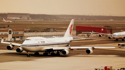 Air China Boeing 747-400 at Frankfurt Airport, April 2012 (7175660476)