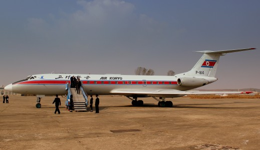 AIR KORYO TUPOLEV TU134B P814 AT HAMHUNG SONDOK AIRFIELD DPRK NORTH KOREA OCT 2012 (8656713492)