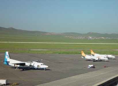 Aircrafts of two Mongolian domestic airlines in ULN