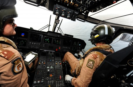 Aircrew Onboard Royal Navy Merlin Helicopter MOD 45150943