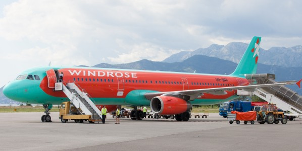 a Windrose airplane photographed in Tivat, Montenegro in August 2014, picture 1