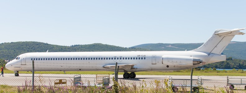 an airplane photographed in Tivat, Montenegro in August 2014, picture 5