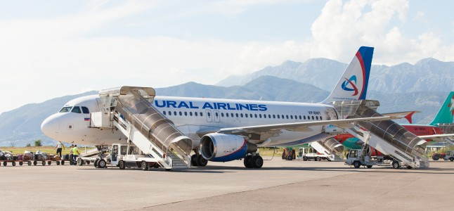 a Ural Airlines airplane photographed in Tivat, Montenegro in August 2014, picture 9