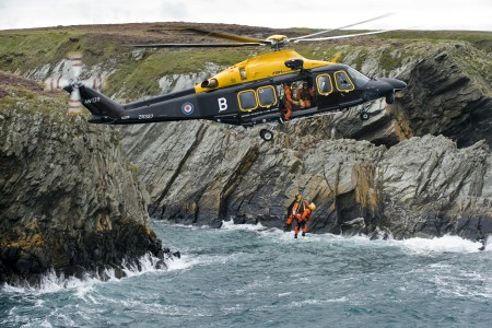 AW139 Helicopter on Search and Rescue Exercise MOD 45151098
