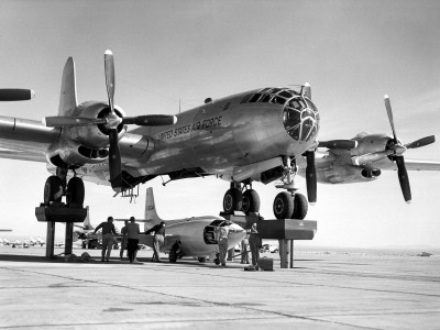 Bell X-1-3 being mated with the motherplane