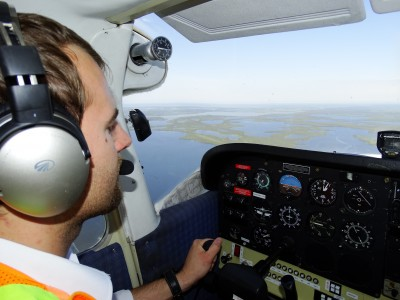 Devin - Wright-Air Pilot - In Cessna 172 - Leaving Inuvik - Northwest Territories - Canada