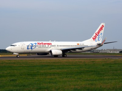 EC-LPQ Air Europa Boeing 737-85P(WL) - cn 35496, taxiing 22july2013 pic-003
