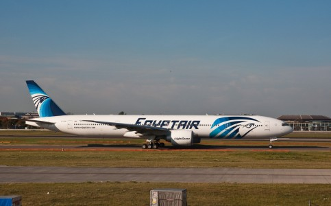 EgyptAir Boeing 777-300ER SU-GDM London Heathrow Airport