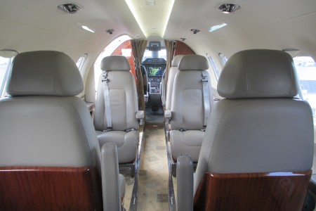 Embraer EMB-505 Phenom 300 cabin forward view