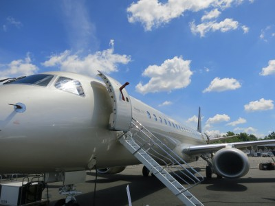 Embraer Lineage 1000 exterior entry