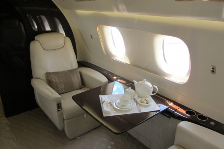 Embraer Lineage 1000 interior seat