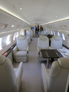 Embraer Lineage 1000 middle cabin interior