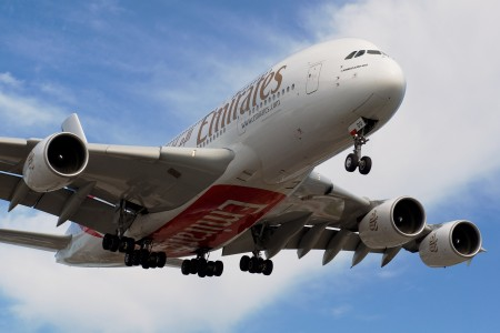 Enirates A380 closeup