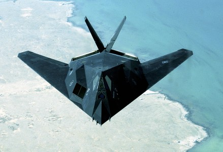 F-117 Flying Over Persian Gulf, 030414-F-0365G-002