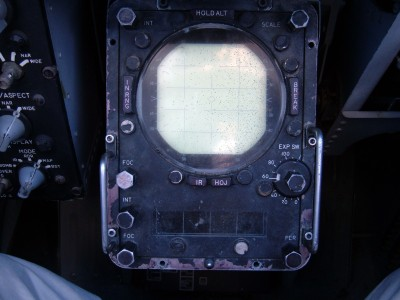 F-4N cockpit simulator RIO's radar screen