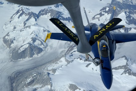 FA-18 Blue Angels refueled by KC-135 2006