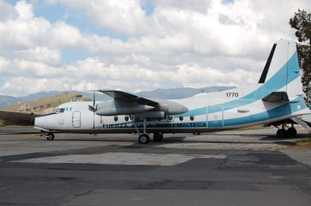Fokker F.27 withdrawn from use from Guatemalan Air Force at Guatemala City,Guatemala (7018808197)