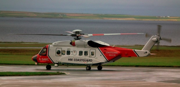 G-SARC HM COASTGUARD SEARCH AND RESCUE SIKORSKY S-92 HELICOPTER AT KIRKWALL AIRPORT ORKNEY ISLANDS SEP 2010 (10671385025)