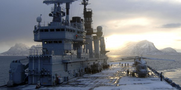 HMS Ark Royal during Exercise Armatura Borealis MOD 45147664
