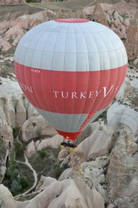 Hot air balloon ride at sunrise in Cappadocia 3