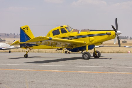 Kennedy Aviation (VH-XAW) Air Tractor AT-802 waiting to refill with fire retardant at Wagga Wagga Airport