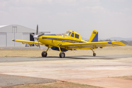 Kennedy Aviation (VH-XAY) Air Tractor AT-802 taxiing after refilling with fire retardant at Wagga Wagga Airport