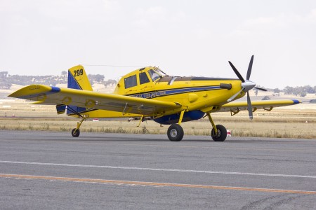 Kennedy Aviation (VH-XAY) Air Tractor AT-802 waiting to refill with fire retardant at Wagga Wagga Airport
