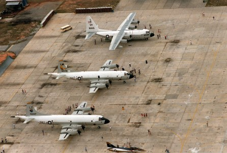 P-3s and KC-130F on display at NAS Pensacola 1986
