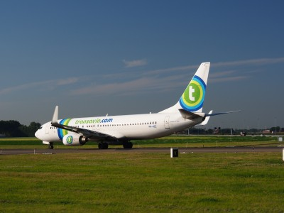 PH-HZE Transavia Boeing 737-8K2(WL) - cn 28377 taxiing 15july2013 pic-009