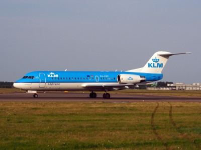 PH-KZC KLM Cityhopper Fokker F70 - cn 11566, taxiing 22july2013 pic-002