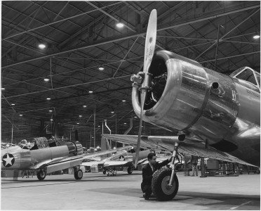 Planes in an aircraft production plant - NARA - 196196