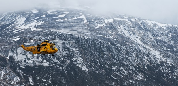 RAF Search and Rescue Helicopter in the Cairngorms MOD 45155350