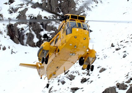 Royal Air Force Search and Rescue (SAR) Sea King in Snowdonia, Wales MOD 45152357