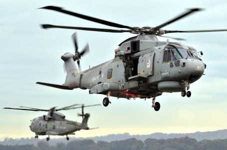 Royal Navy Merlin Helicopter MOD 45151122