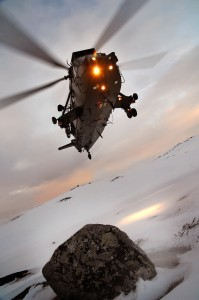 Sea King Helicopter Landing Drills at Bardufoss MOD 45150208