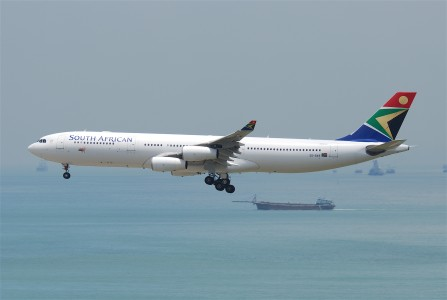 South African Airways Airbus A340-313E; ZS-SXE@HKG;31.07.2011 614iv (6052635211)