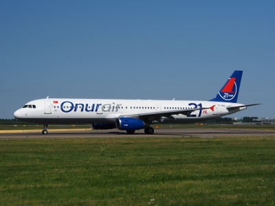 TC-ONJ Onur Air Airbus A321-131 - cn 385, taxiing 21july2013 pic-006