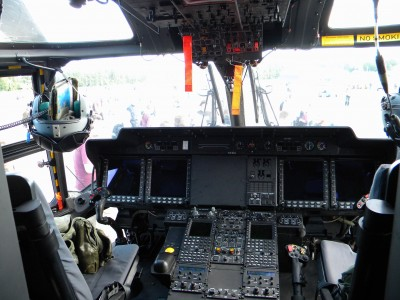 The cockpit of NH-90 helicopter
