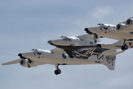 The three noses of SpaceShipTwo and White Knight Two