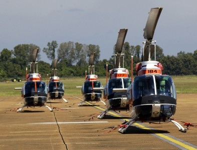US Navy 040915-N-3659B-004 TH-57 Sea Ranger Helicopters sit on the flight line at Millington Municipal Airport