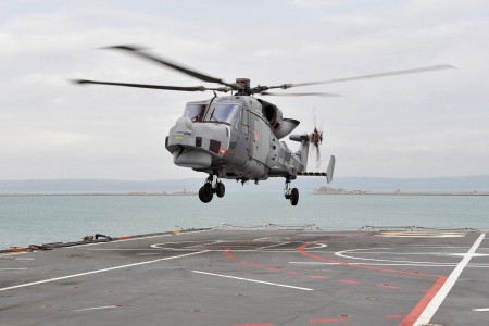 Wildcat Helicopter Trials Onboard RFA Argus MOD 45153723